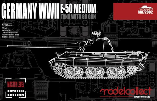 Picture of Germany WWII E-50 Medium Tank with 88 Gun
