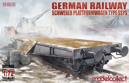 Picture of German Railway Schwerer Plattformwagen Type ssys 1+1 pack