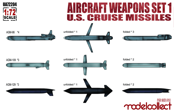 Picture of Aircraft weapons set1 U.S.cruise missiles